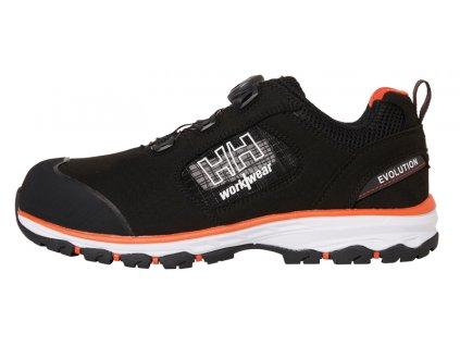 Sandál CHELSEA EVOLUTION BOA S1P Helly Hansen 36 černá/oranžová (velikost 36)