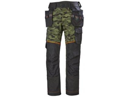 Strečové řemeslnické kalhoty CHELSEA EVOLUTION Helly Hansen - camouflage 44 Camo (velikost 44)