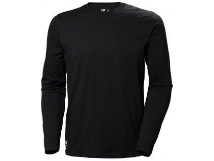 Tričko s dlouhým rukávem MANCHESTER Helly Hansen - černé XS černá (velikost 2XL)