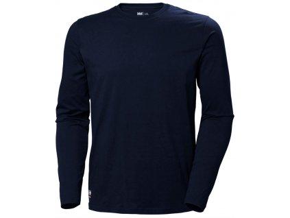 Tričko s dlouhým rukávem MANCHESTER Helly Hansen - navy XS navy (velikost 2XL)