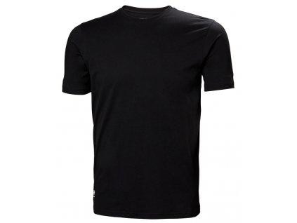Bavlněné tričko MANCHESTER Helly Hansen - černé XS černá (velikost 2XL)