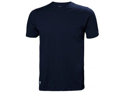 Bavlněné tričko MANCHESTER Helly Hansen - navy XS navy (velikost 2XL)