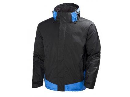 Zimní bunda LEKNES - černá/modrá černá/modrá S (velikost 2XL)