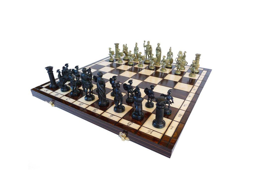 Šachová souprava ANTICKÉ ŠACHY-PLASTOVÉ FIGURY