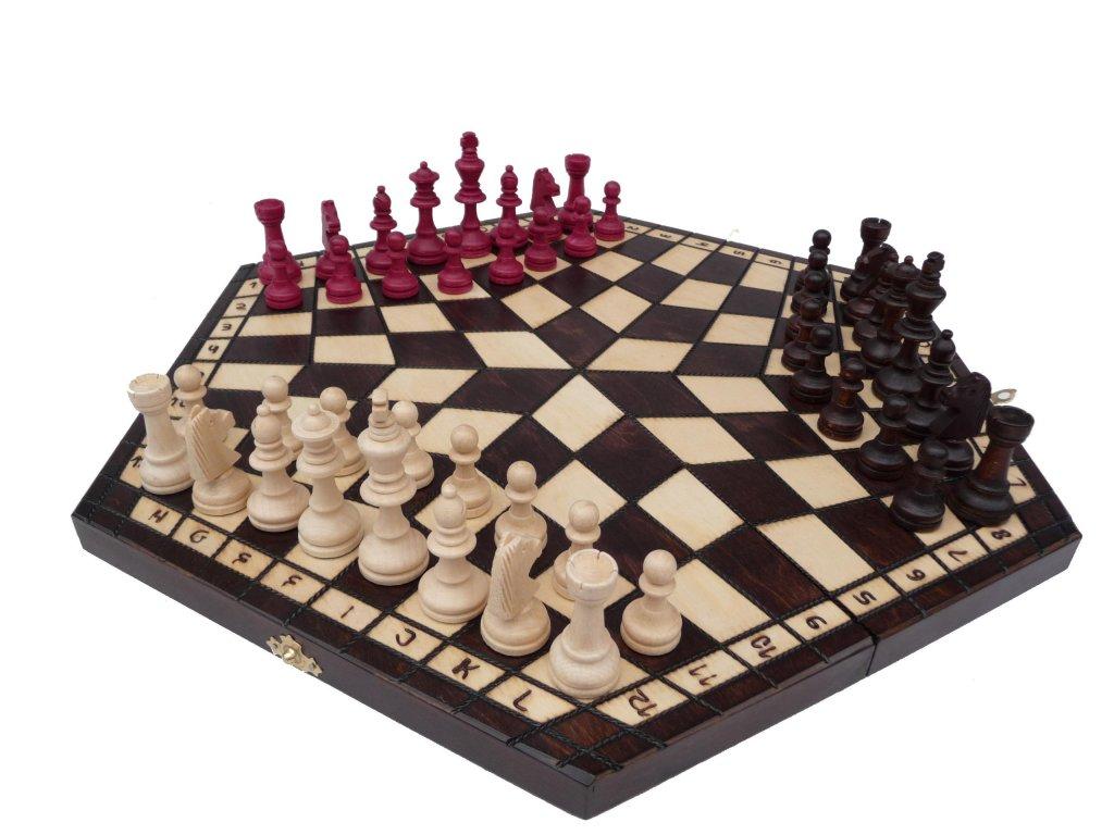 Šachová souprava PRO 3 HRÁČE V