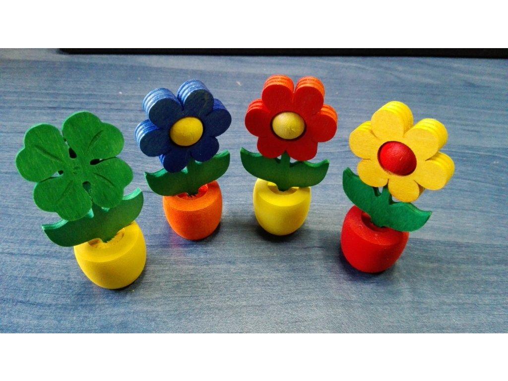 Dřevěná květinka 6