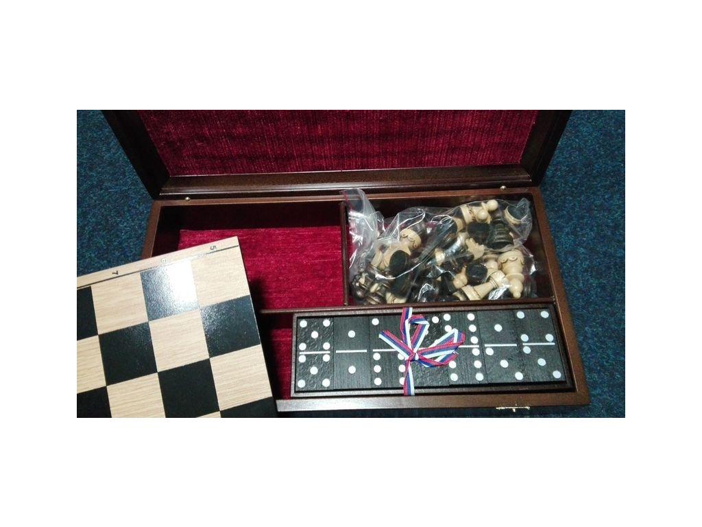 Šachová souprava + domino