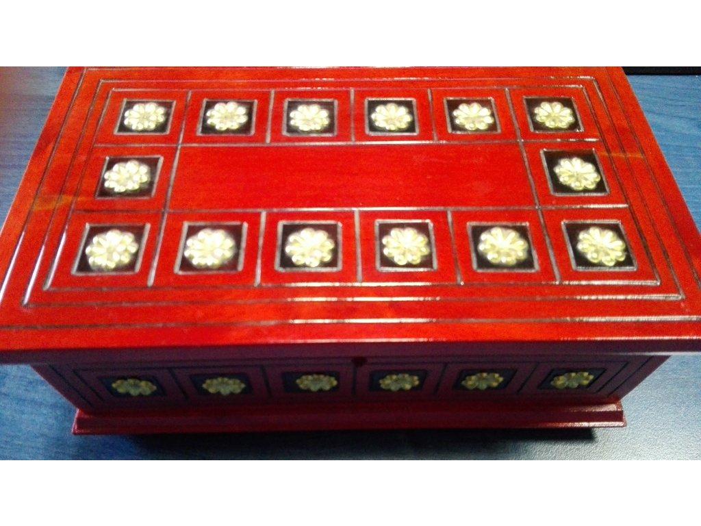 Šperkovnice-zlaté kytky střední