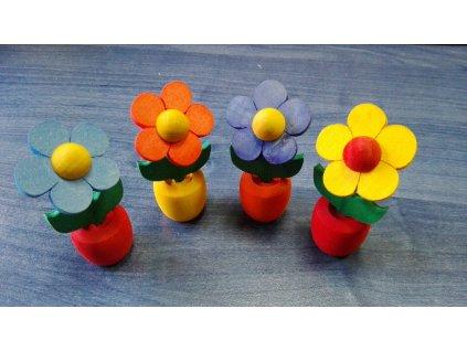 Dřevěná květinka 5