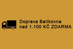 Doprava Balíkovna nad 1.100 Kč Zdarma na vaši poštu. Pro zásilky do 20 kg.