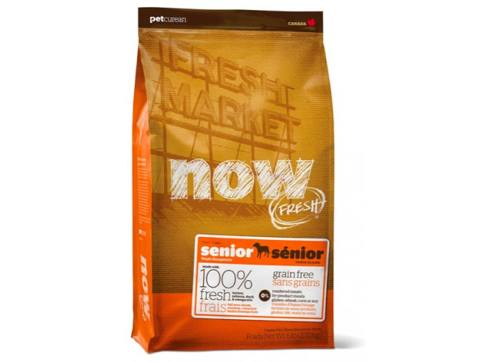 PetCurean NOW FRESH Grain Free Senior DF 11,33 kg