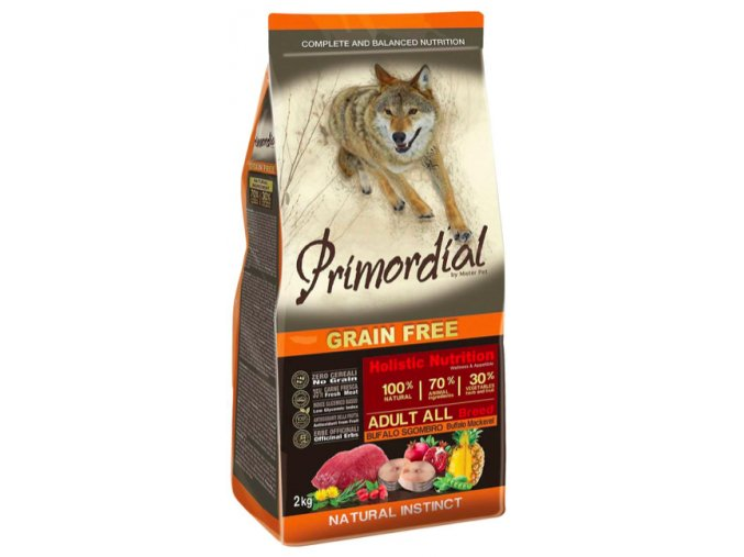 Primordial Grain Free Adult Buffalo and Mackerel 12 kg