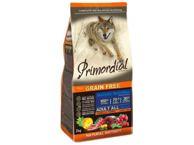 Primordial Grain Free Adult Tuna and Lamb 12 kg