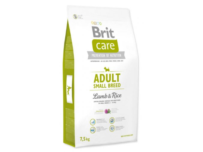 BRIT CARE ADULT SMALL BREED LAMB & RICE 7,5 KG na aaagranule.cz