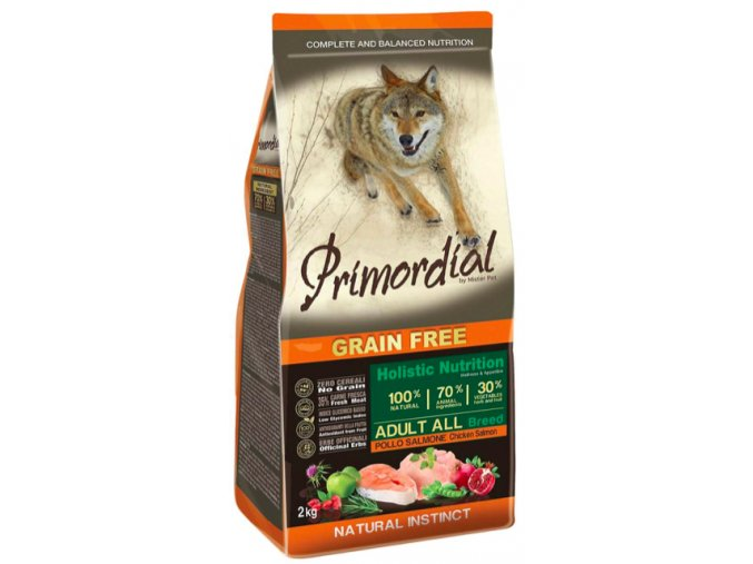 Primordial Grain Free Adult Chicken and Salmon 12 kg