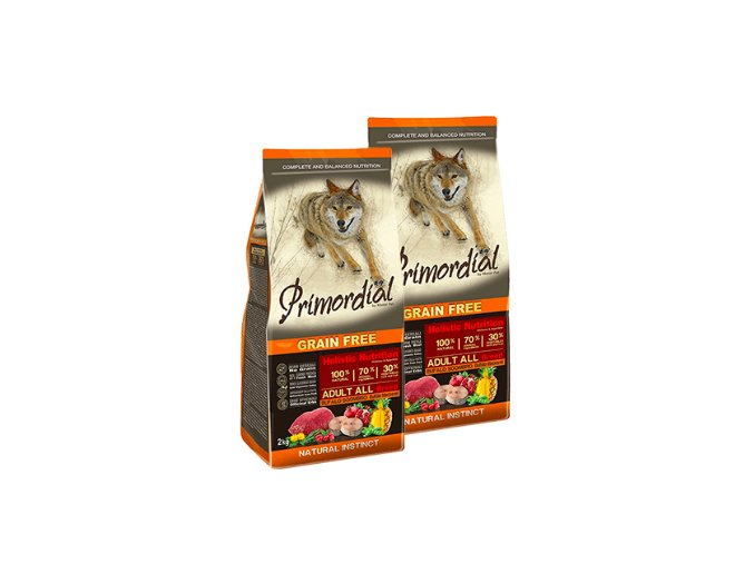Dvojbalení Primordial Grain Free Adult Buffalo and Mackerel 2 x 12 kg