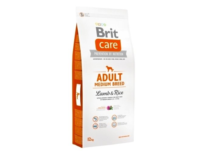 Brit Care Adult Medium Breed Lamb & Rice 12 kg na aaagranule.cz