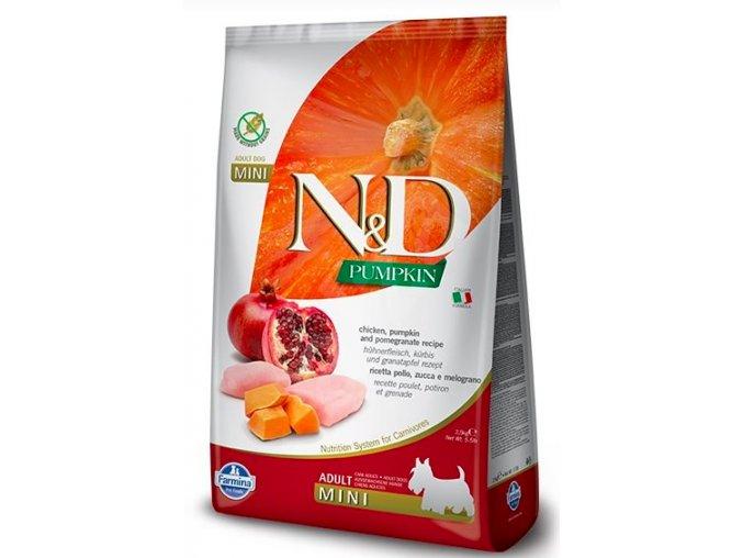 N&D GF Pumpkin DOG Adult Mini Chicken & Pomegranat 7 kg na aaagranule.cz