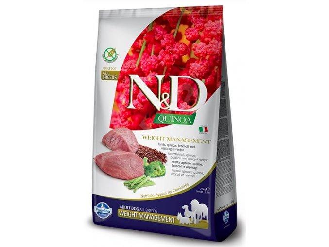 N&D GF Quinoa DOG Weight Management Lamb & Broccoli 7 kg na aaagranule.cz
