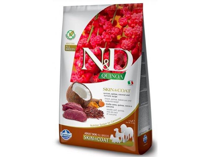 N&D GF Quinoa DOG Skin&Coat Venison & Coconut 7kg na aaagranule.cz