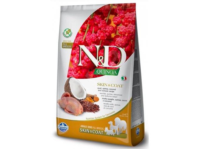 N&D GF Quinoa DOG Skin&Coat Quail & Coconut 7kg na aaagranule.cz