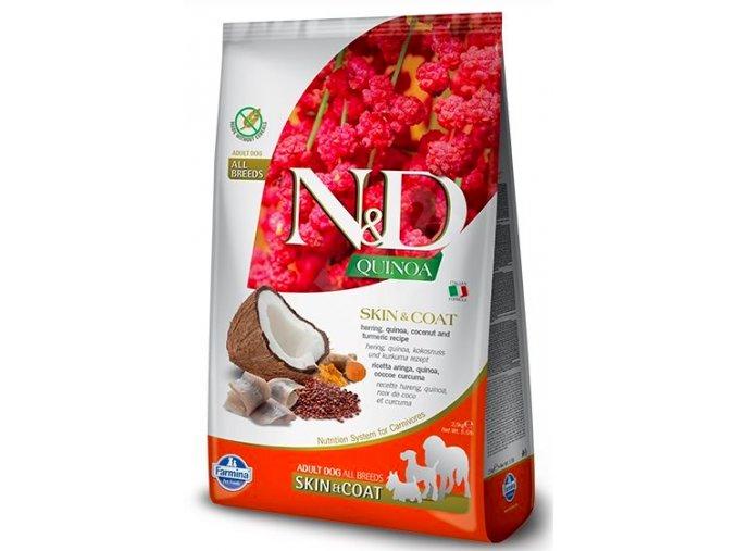 N&D GF Quinoa DOG Skin&Coat Herring & Coconut 7kg na aaagranule.cz