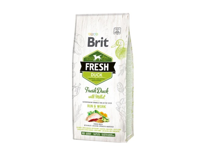 BRIT Fresh Duck with Millet Active Run & Work 12 kg na aaagranule.cz