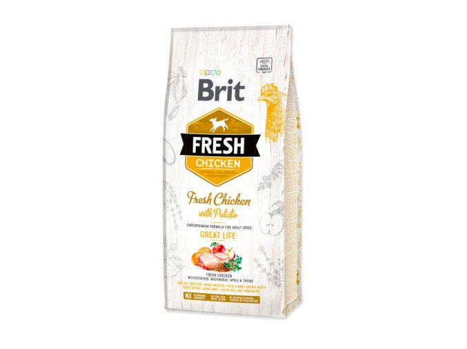 BRIT Fresh Chicken with Potato Adult Great Life 12kg na aaagranule.cz