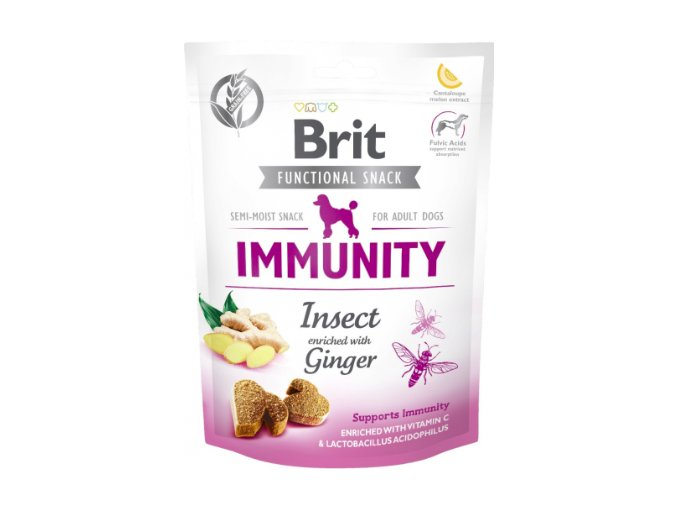 Brit Functional Snack Immunity Insect and Ginger 150g na aaagranule.cz