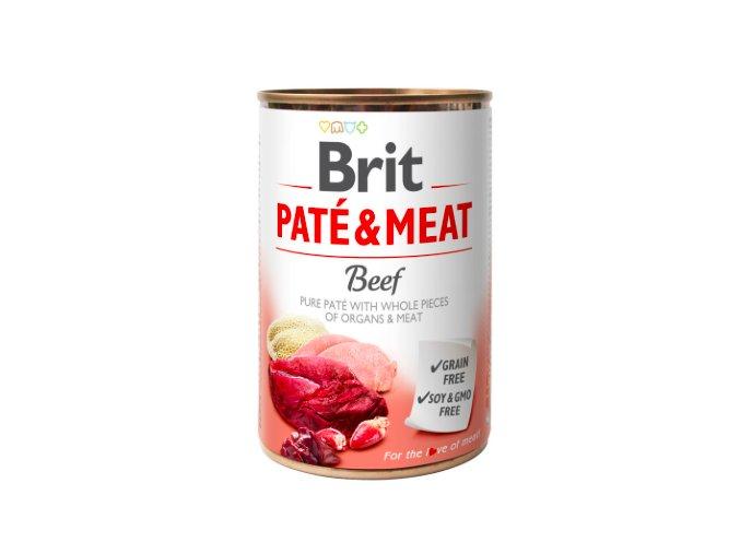 Brit Dog konz Paté & Meat Beef 400g na aaagranule.cz