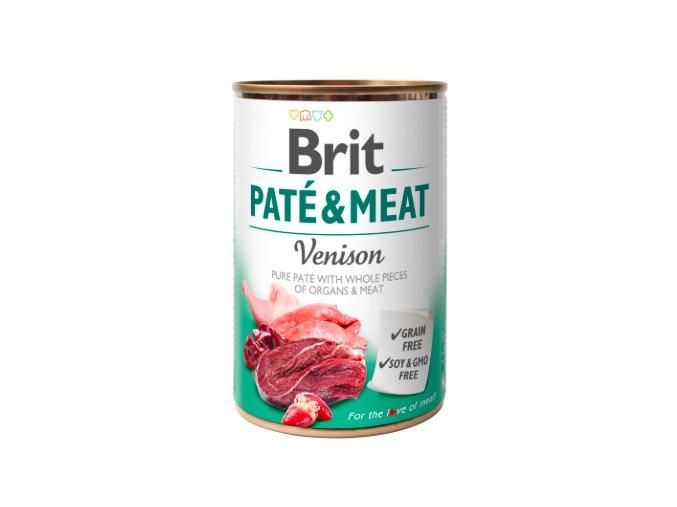Brit Dog konz Paté & Meat Venison 400g na aaagranule.cz