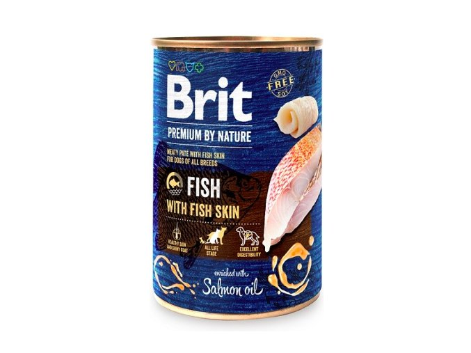 Brit Premium Dog by Nature konz Fish with Fish Skin 400g na aaagranule.cz