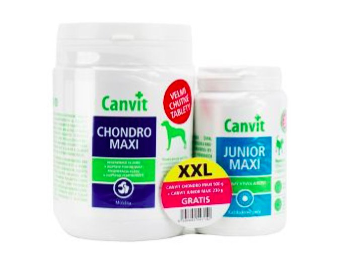 Canvit Chondro Maxi 500g +Canvit Junior Maxi 230g na aaagranule