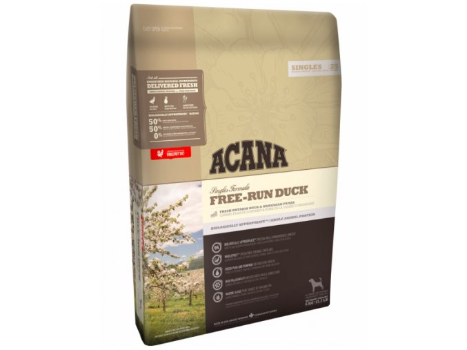 Acana Dog Free run Duck Singles 11,4kg na aaagranule.cz