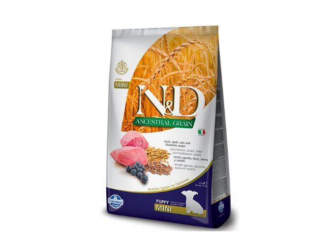N&D Low Grain DOG Puppy Mini Lamb & Blueberry 7kg na aaagranule.cz