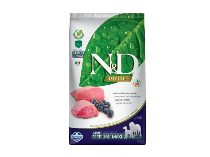 N&D PRIME DOG Adult M:L Lamb & Blueberry 12kg na aaagranule.cz