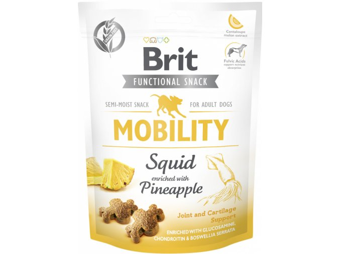 Brit Care Dog Functional Snack Mobility Squid 150g na aaagranule