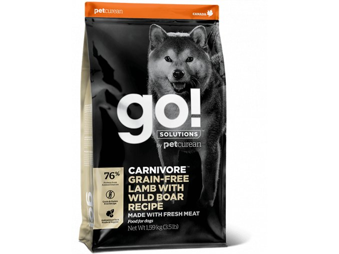 GO! Carnivore GrainFree Lamb and Wild Board Dog Food 10kg na aaagranule.cz