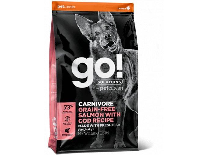 GO! Carivore GrainFree Salmon and Cod Dog Food 10kg na aaagranule.cz