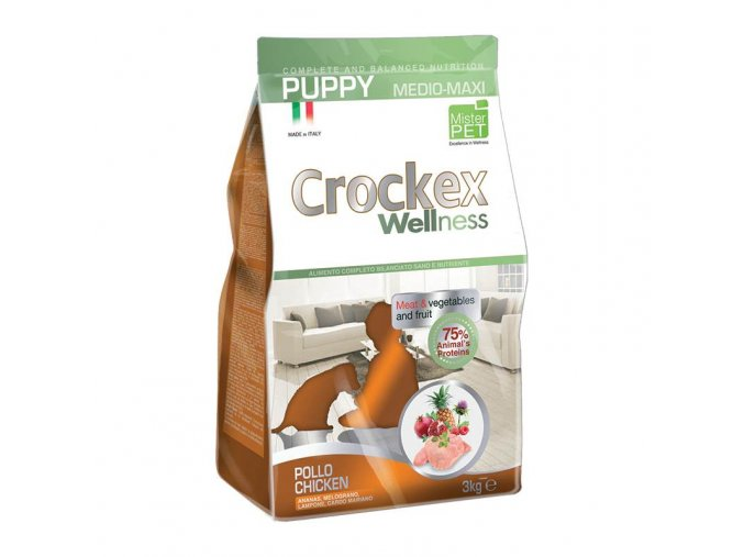 Crockex Puppy Chicken and Rice 12 kg na aaagranule