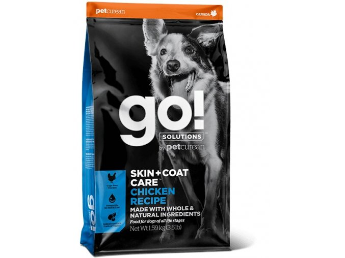 GO! Skin and Coat Chicken Dog Food 11,4kg na aaagranule