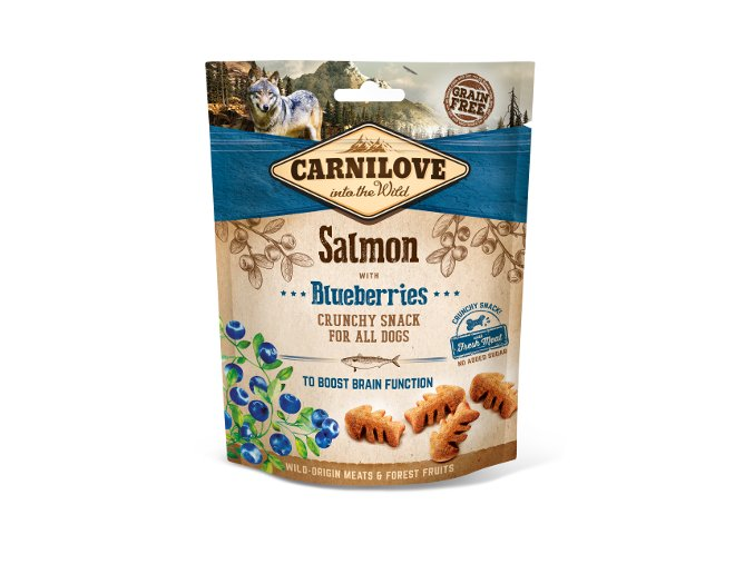 Carnilove Dog Crunchy Snack Salmon with Blueberries 200g na aaagranule