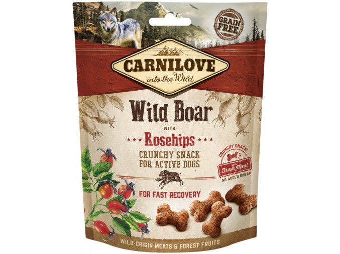 Carnilove Dog Crunchy Snack Wild Boar with Rosehips 200g na aaagranule