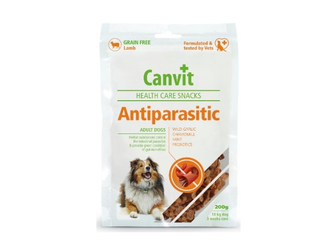 Canvit Snacks AntiParasitic 200g na aaagranule