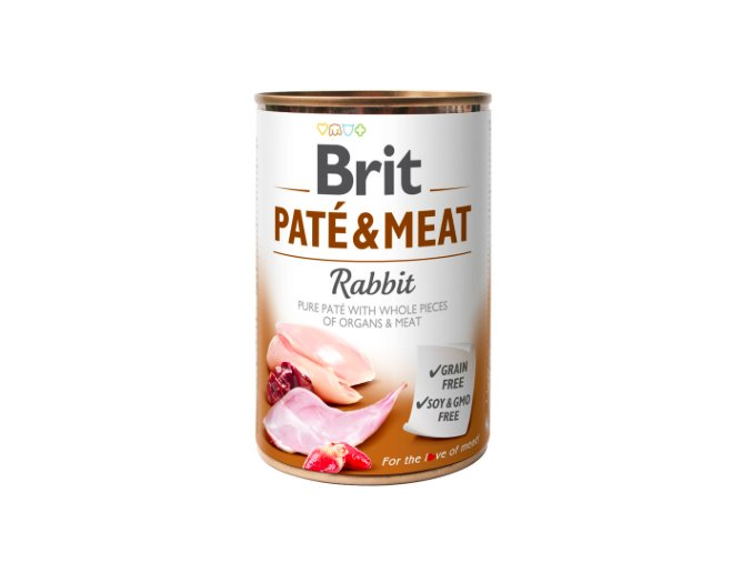 Brit Dog konz Paté and Meat Rabbit 400g na aaagranule