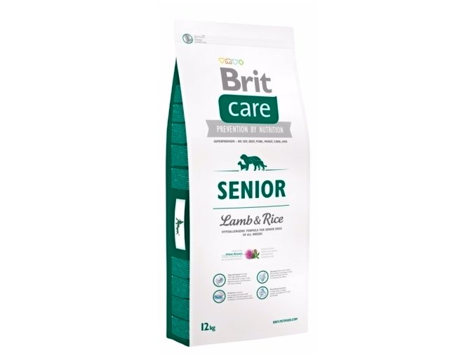 Brit Care Senior Lamb & Rice 12 kg na aaagranule.cz