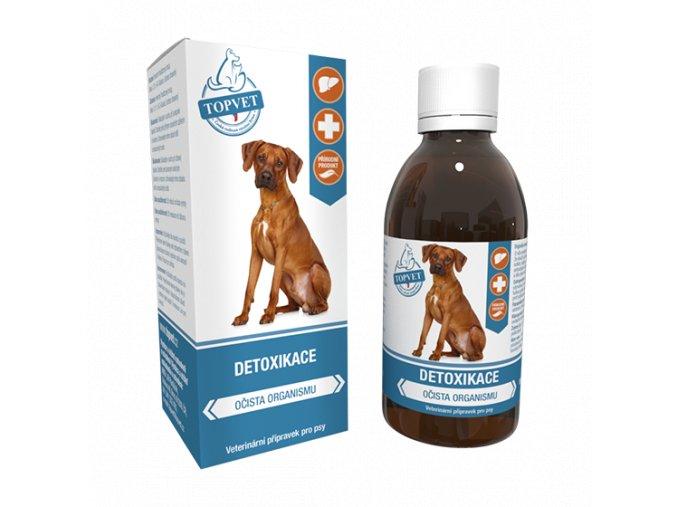 Detoxikace sirup pro psy TOPVET 200ml na aaagranule