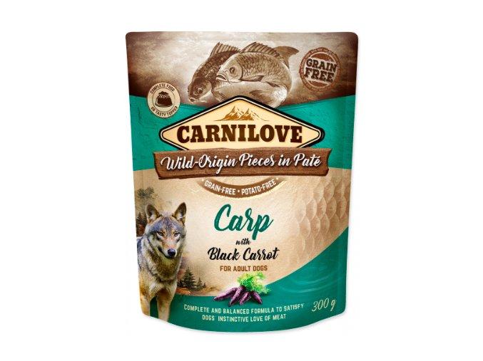 Carnilove Dog Pouch Paté Carp & Black Carrot 300g na aaagranule