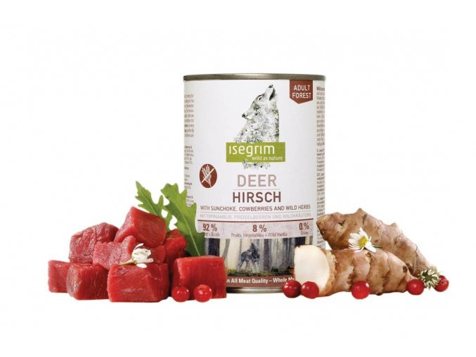 ISEGRIM Adult Forest Jelen s topinambury, brusinkami a bylinkami 400 g na aaagranule