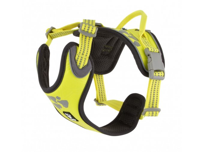 Postroj Hurtta Weekend Warrior neon citrónový na aaagranule
